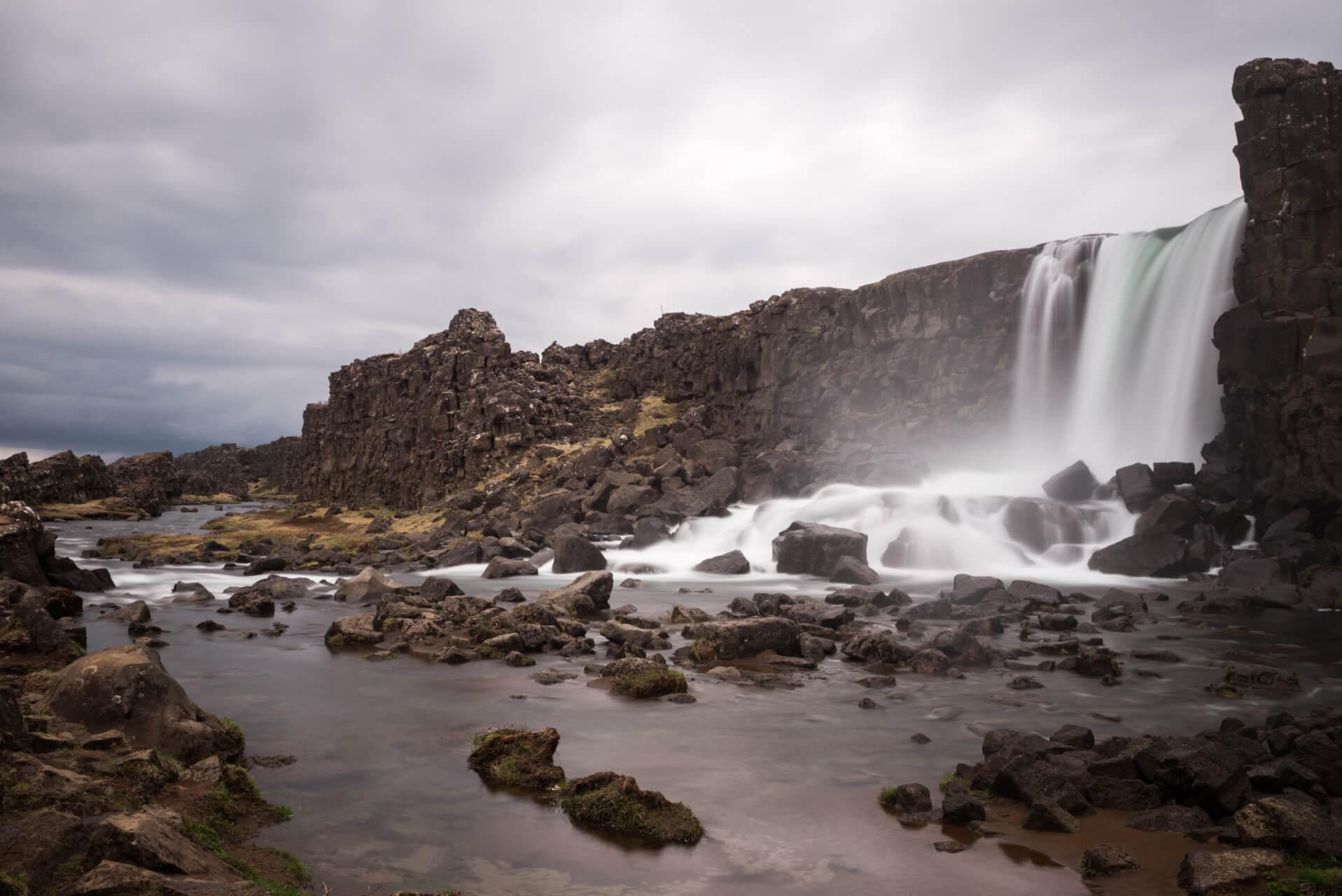 Island, Þingvellir, Öxarárfoss; Fotograf Steffen Lohse