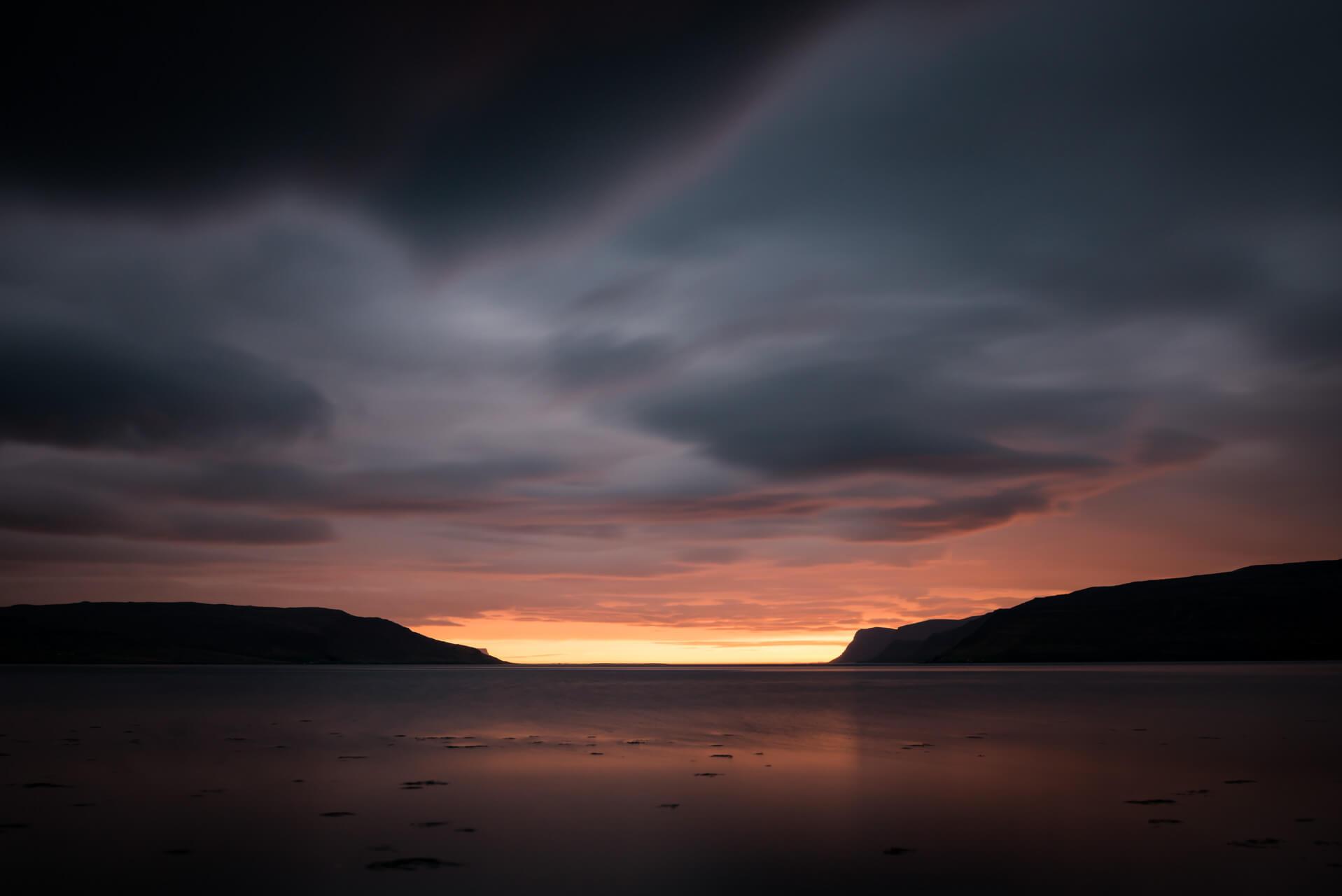 Island kurz vor Mitternacht; Fotograf Steffen Lohse