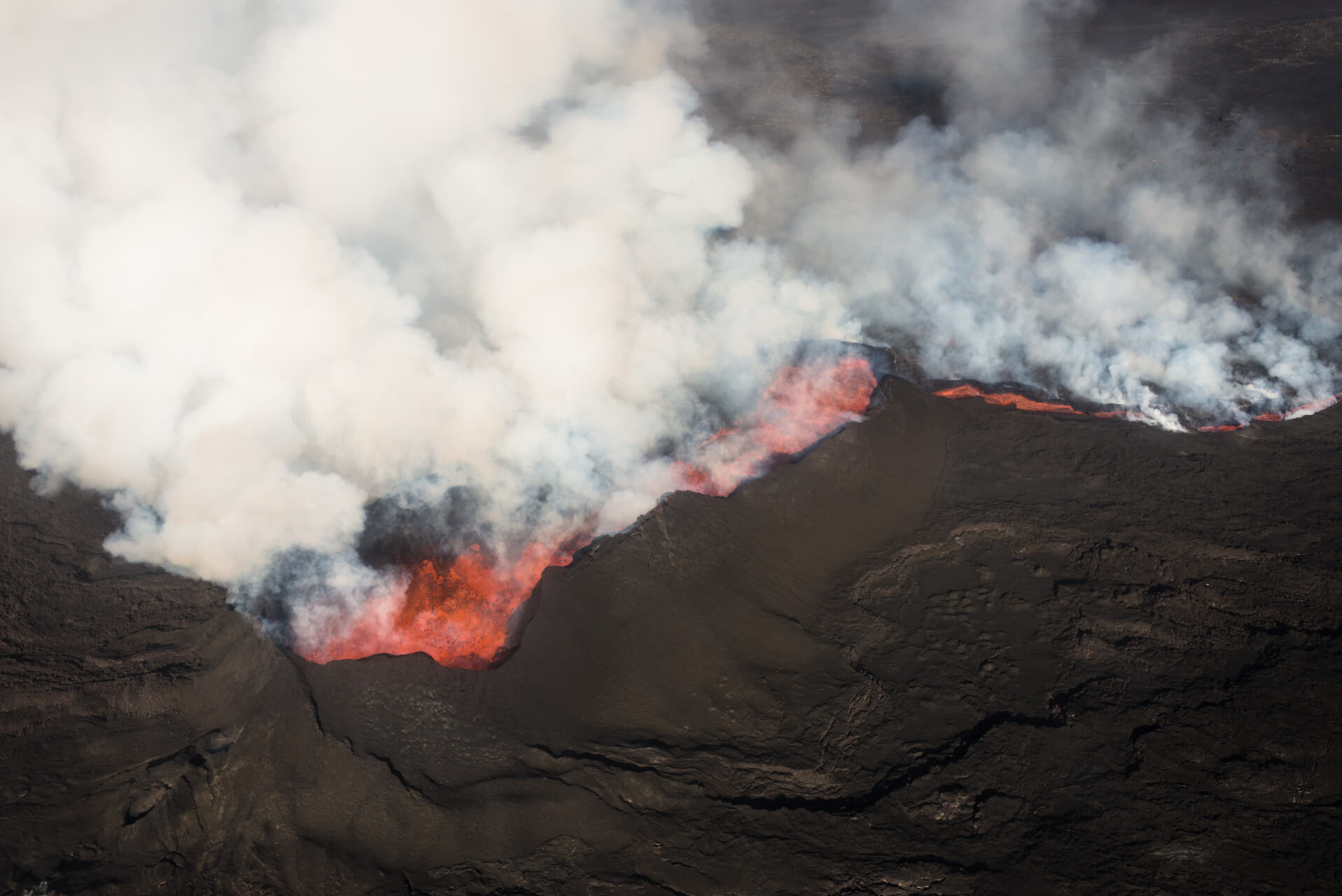 Island, Holuhraun am Báðarbunga, Ausbruch 2014; Fotograf Steffen Lohse