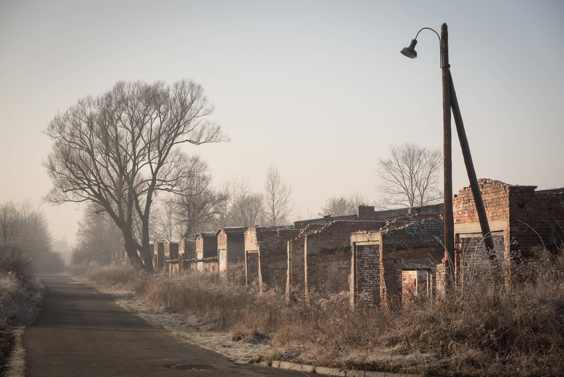 Konzentrations- und Vernichtungslager Auschwitz-Birkenau, Lagergebäude an der alten Rampe; Fotograf Steffen Lohse