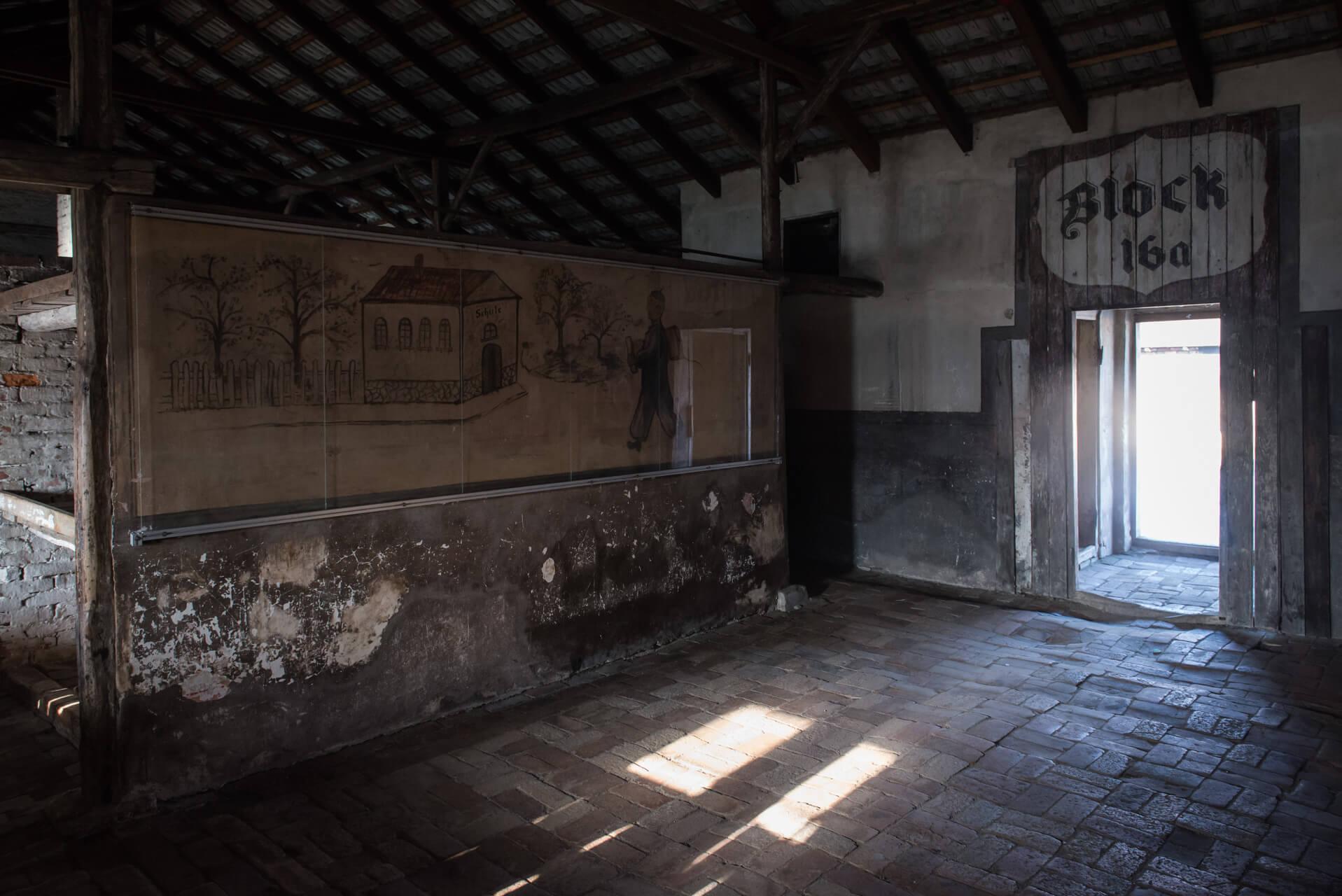 Kinderbaracke, Vernichtungslager Auschwitz-Birkenau, Kinderbaracke; Fotograf Steffen Lohse