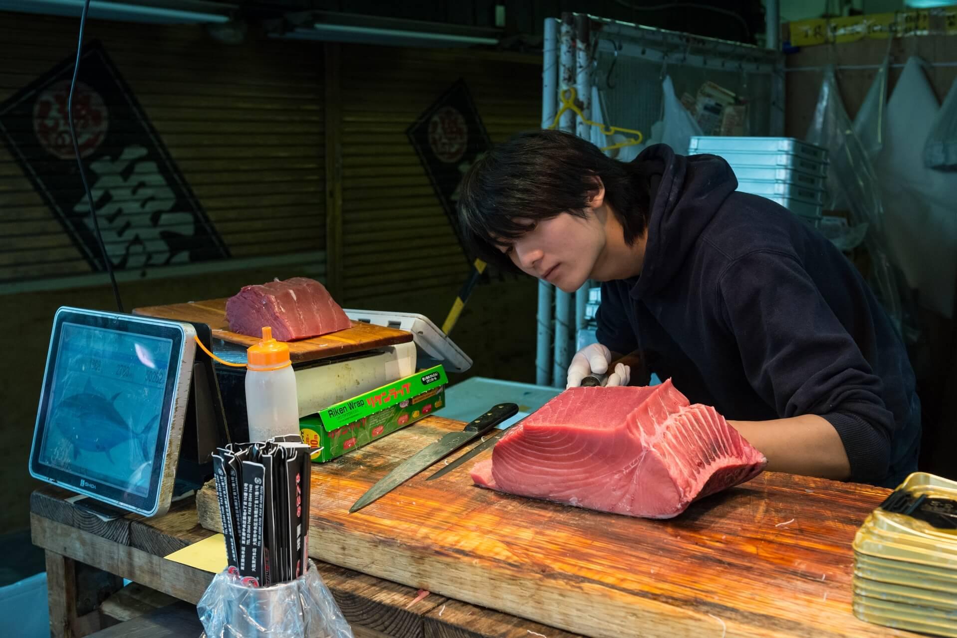 Japan Tokyo Fischmarkt