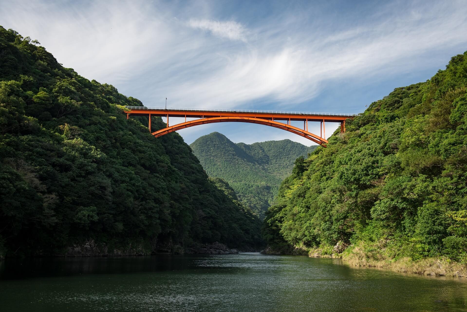 Japan: Yakushima Island: Anbo-River, Matsu, Fotograf: Steffen Lohsemine O-hashi Bridge