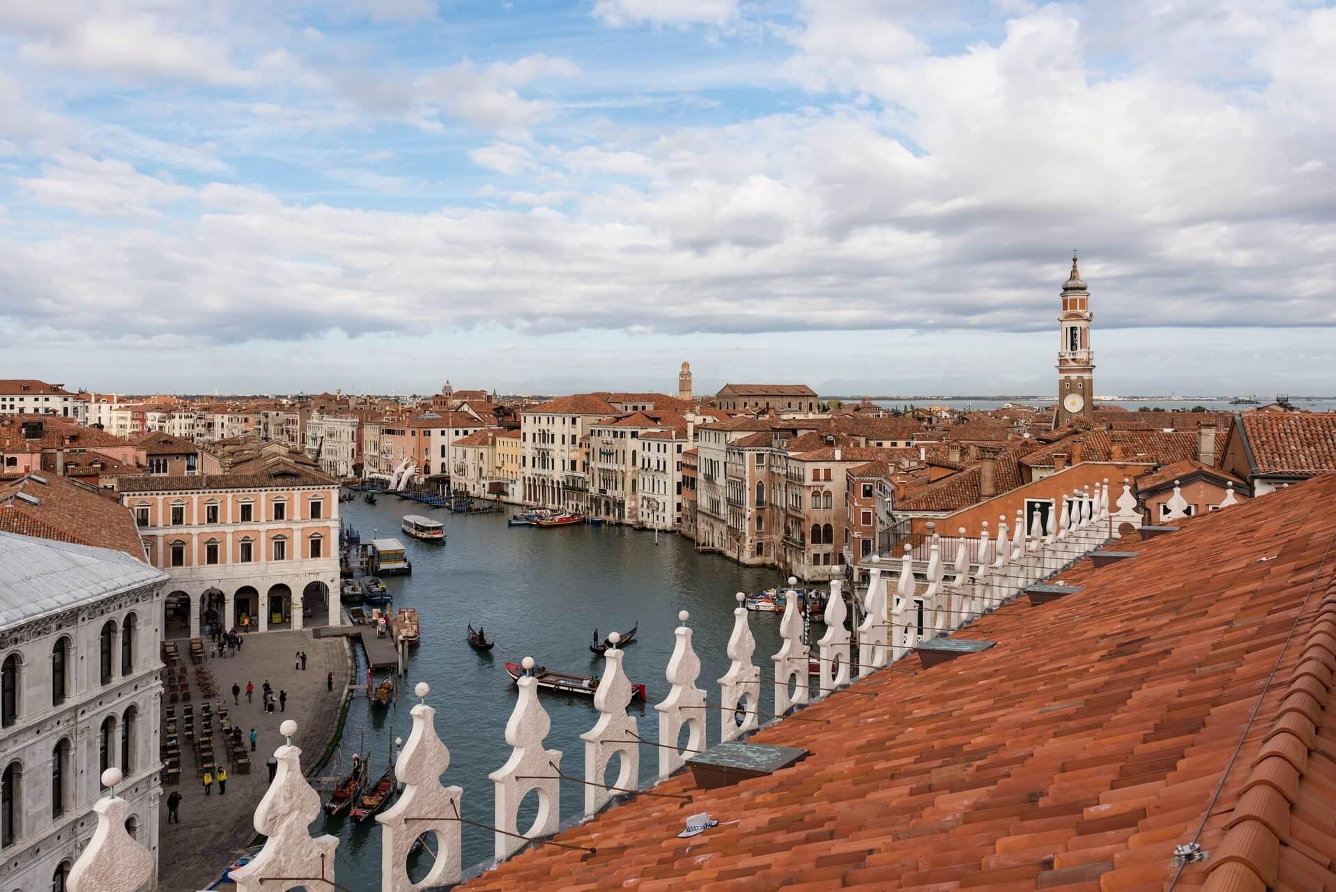 Italien: Venedig Italiy: Venice roof top view to Canal Grande, Fotograf: Steffen Lohse