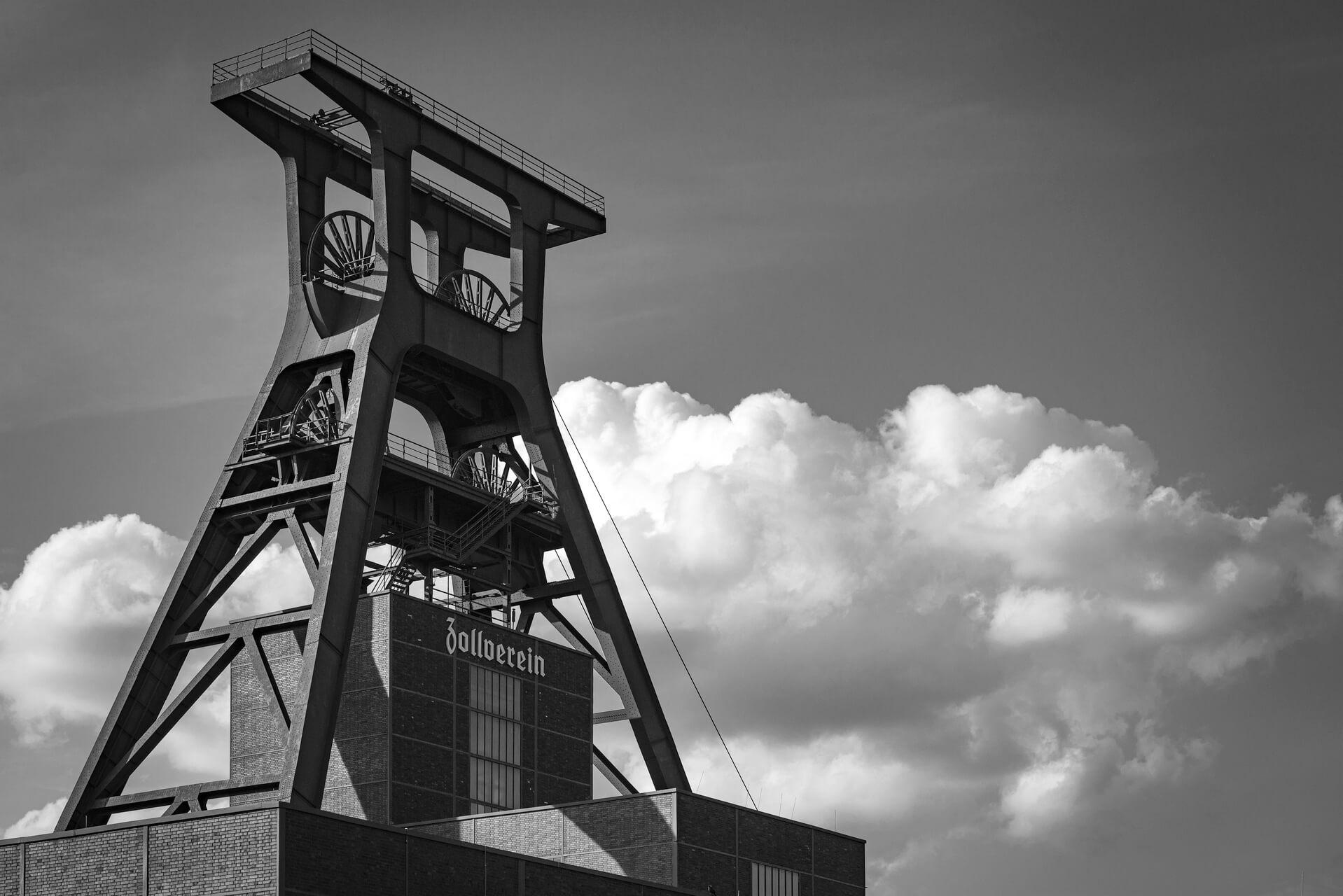 Ruhrgebiet, Industriekultur, Zeche Zollverein, Förderturm