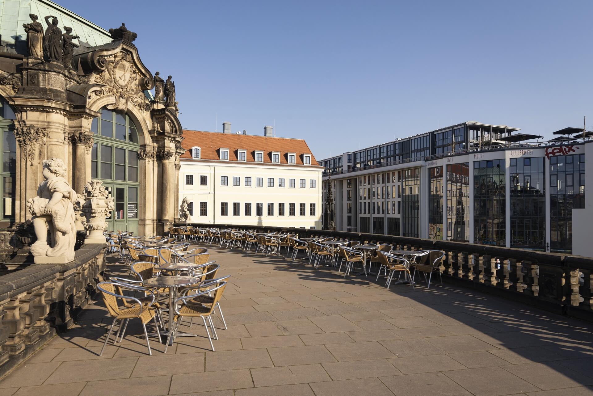Dresden: Zwinger, Frühjahr 2020, Eindrücke von der Ausgangsbeschränkung während der COVID-19 Pandemie
