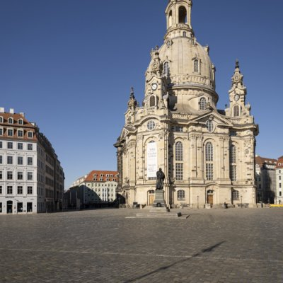 Dresden, spring 2020, impressions of the exit restriction during the COVID-19 pandemic