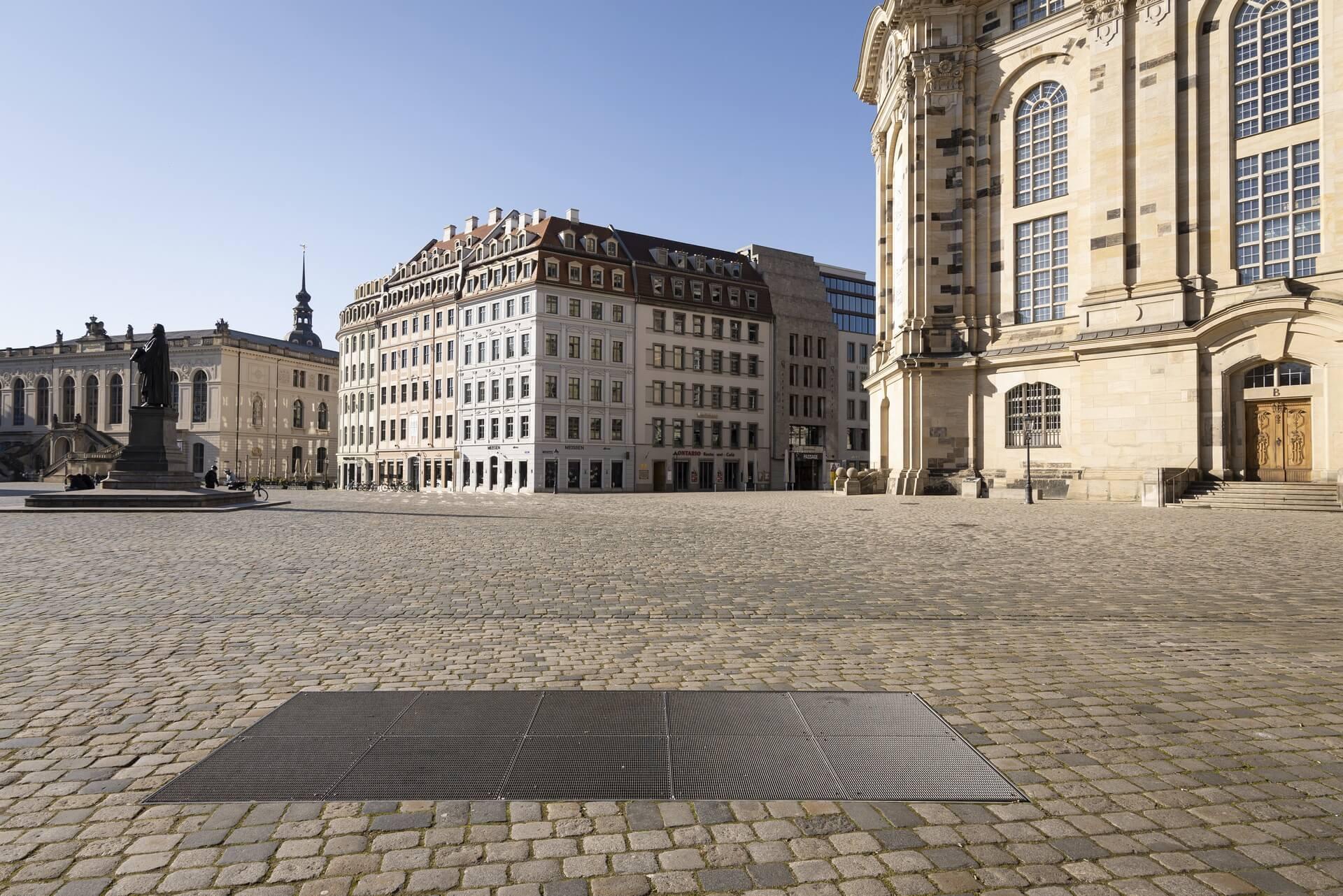 Dresden: Neumarkt, Frühjahr 2020, Eindrücke von der Ausgangsbeschränkung während der COVID-19 Pandemie