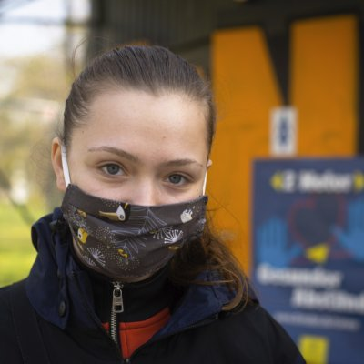 Portraits – people wearing protective masks