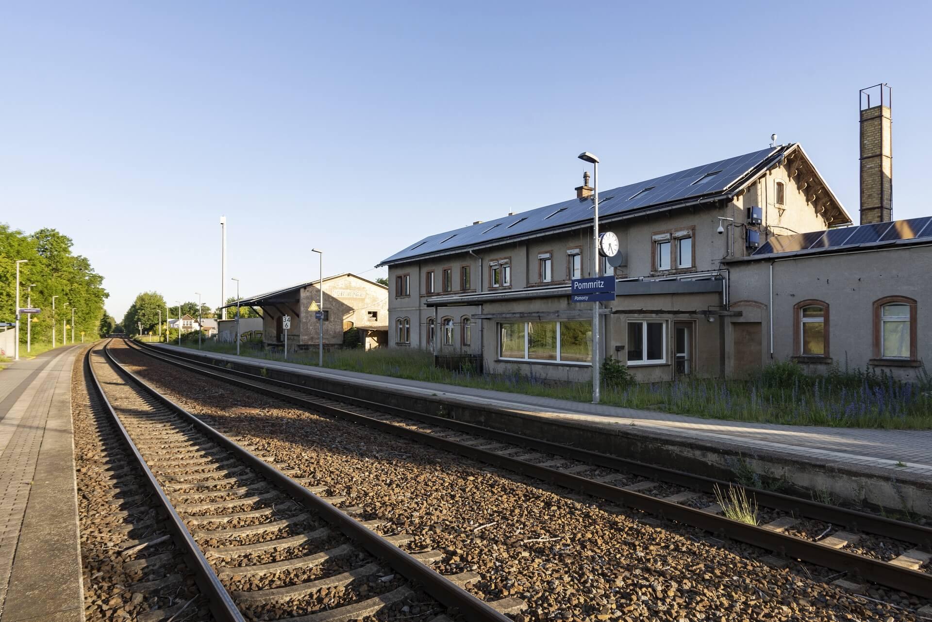 Pommritz, Bahnhof