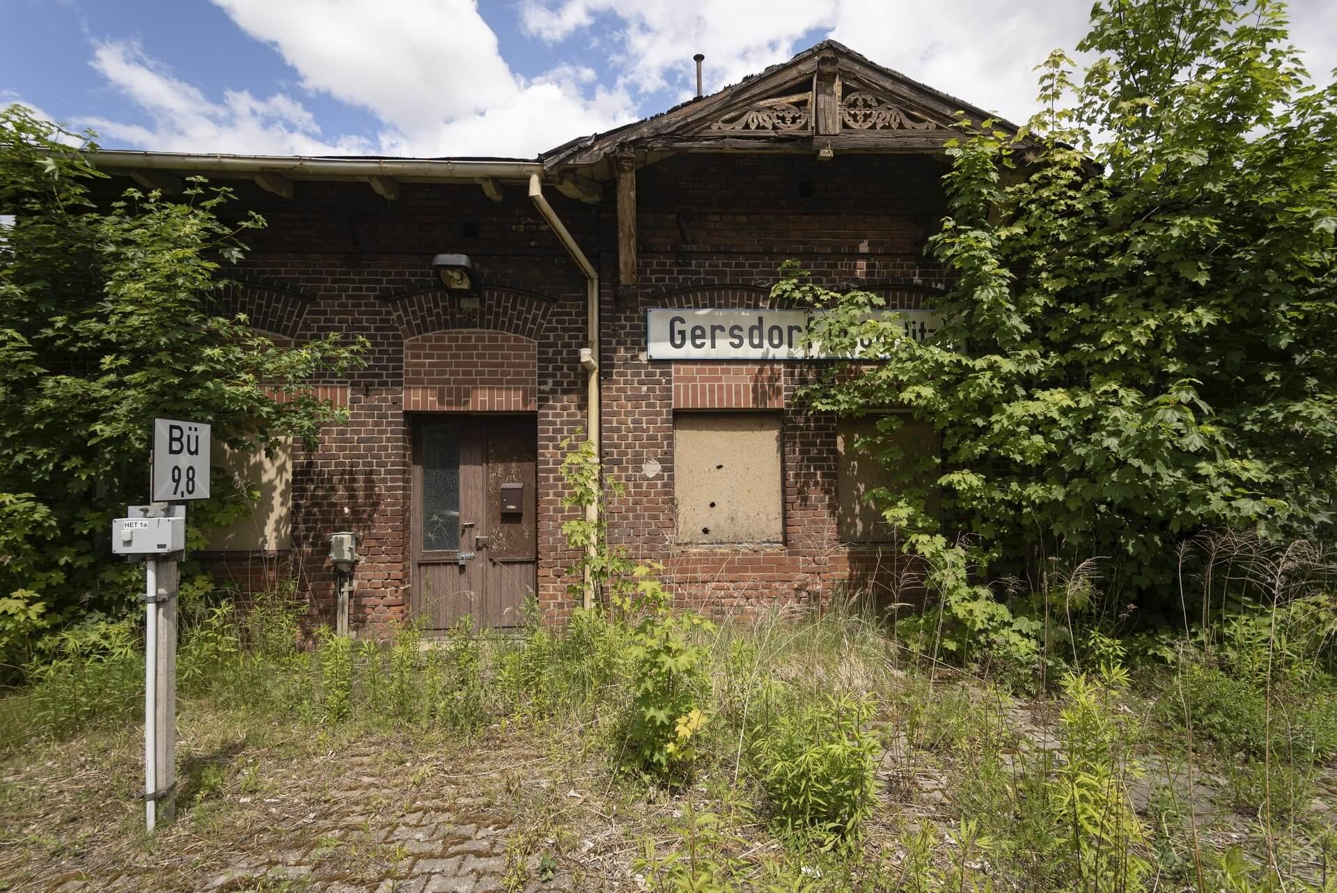 Gersdorf bei Görlitz, Bahnhof