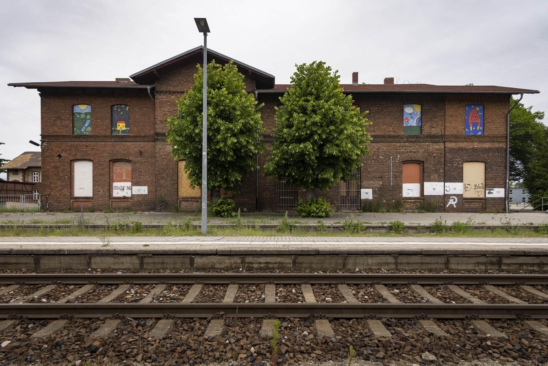 Rietschen, Bahnhof