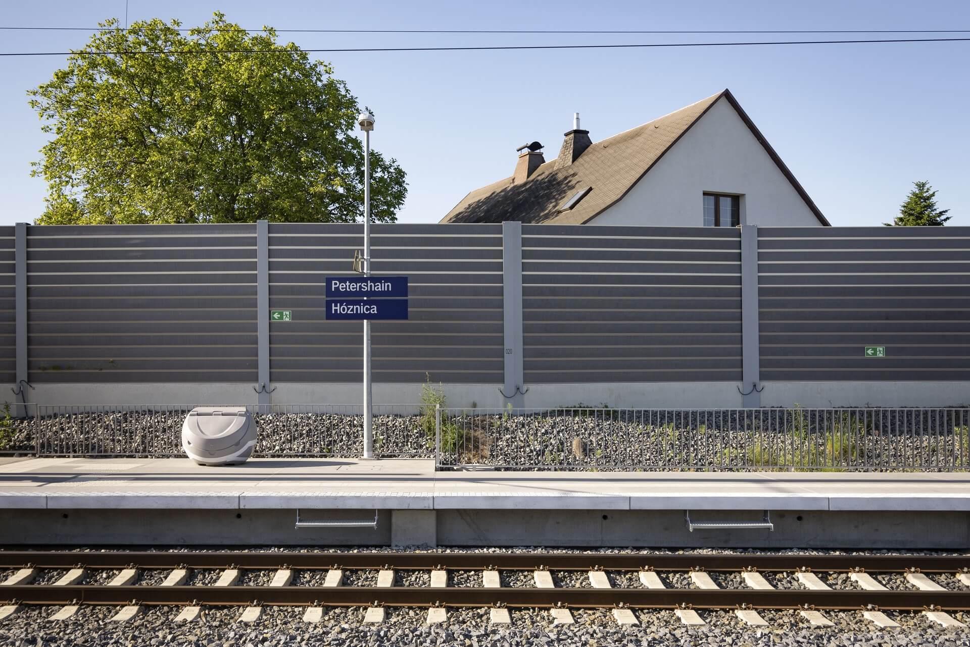 Petershain, Bahnhof